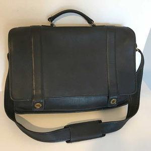 VTG Coach black leather briefcase messenger bag
